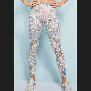 DYI floral patterned leggings